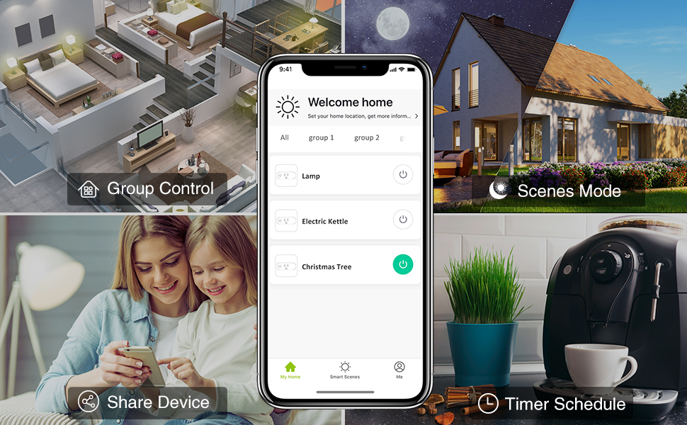 Remote Control by smart phone with smartlife gosund alexa and google assistant