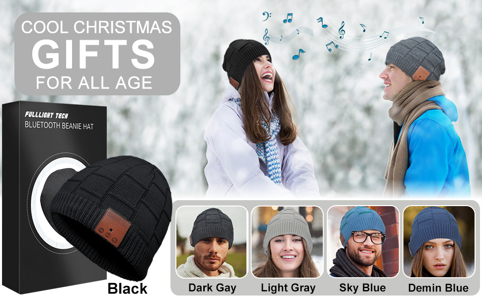 birthday gifts for women who have everything Bluetooth Beanie Hat Headphones Wireless Headset Winter