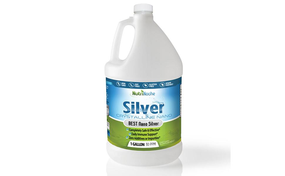 nutrinoche colloidal silver gallon 30 ppm