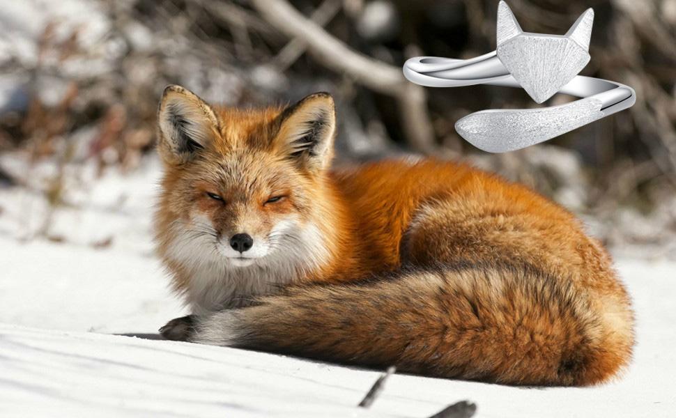 cute lovely fox rings for her