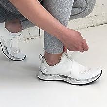 Velcro strap slip on