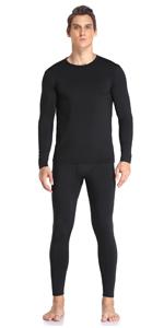 Thermal Underwear Set for Men Black