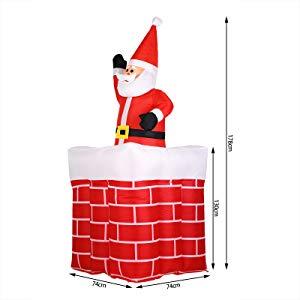 Monzana Papá Noel en chimenea inflable luces navidad decoración ...