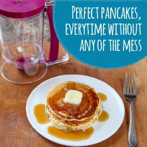 perfect pancakes anytime without the mess