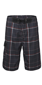 supiocv Striped Texture Gray Boys Beach Pants Board Shorts Sportwear Quick Dry Swim Trunks