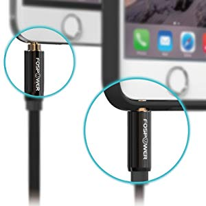 fospower Stereo Audio 3.5mm Auxiliary Short Cord Male to Male Aux Cable