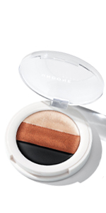 3 in 1 eyeshadow palette undone beauty castor oil highlight prime eyeliner