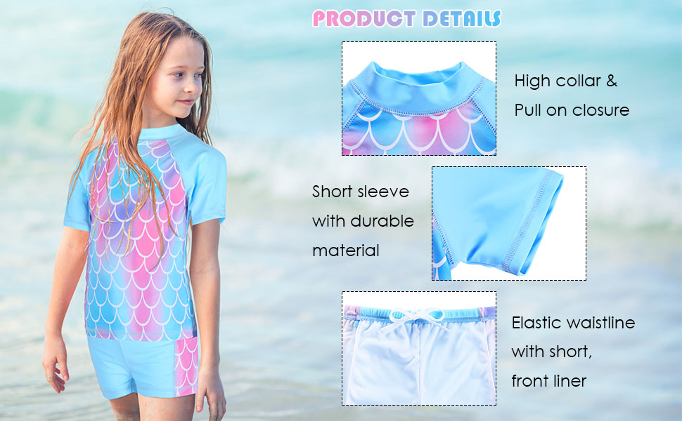 girls swimsuits two piece blue