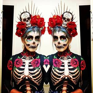 women halloween skeleton costume