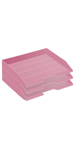Acrimet Stackable Letter Tray Side Load Solid Pink