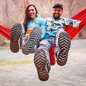 hammock, peak to pavement, hike, hiker, shoe, sneaker, relax, smile, trail, outdoors