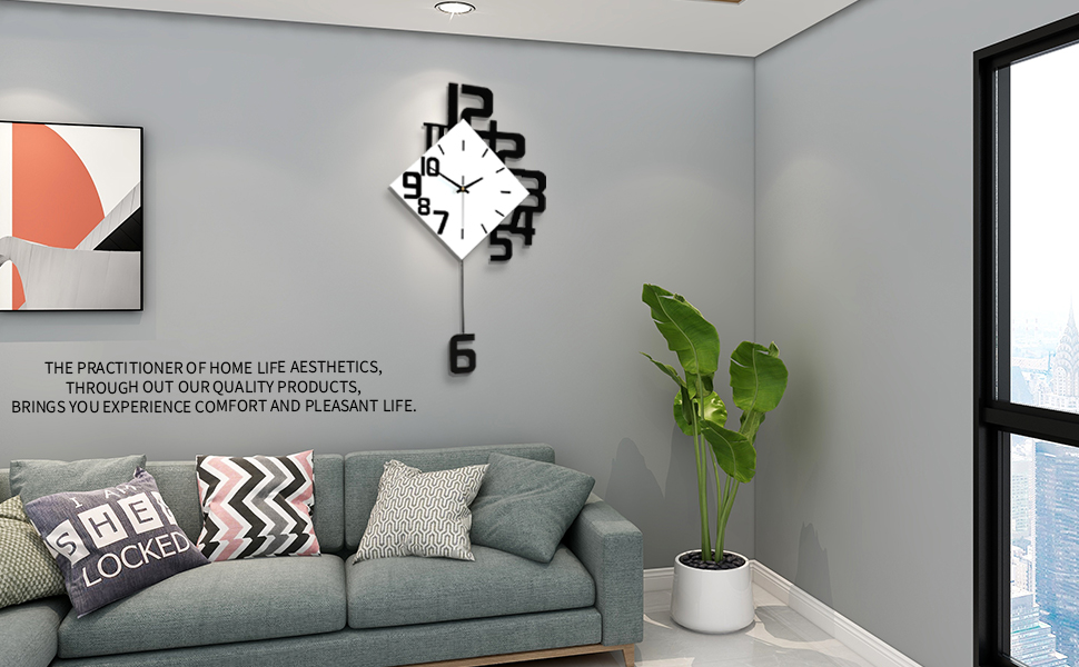 digital wall clock,large wall clock,farmhouse wall clock,pendulum wall clock