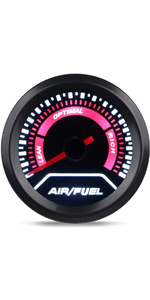 Black Dial with Pointer and LED Digital Readouts for 12V Car Series Waricaca 7 Color Air-Fuel Ratio Table Kit 2-1//16 52mm