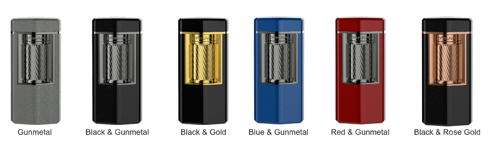 xikar cigar accessories meridian triple soft flame lighter colors gunmetal black red gold rose blue