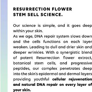 RESURRECTION FLOWER STEM CELL SCIENCE BIOTECHNOLOGY ORPHEUS COMPLEX PEPTIDES COLLAGEN REJUVENATION