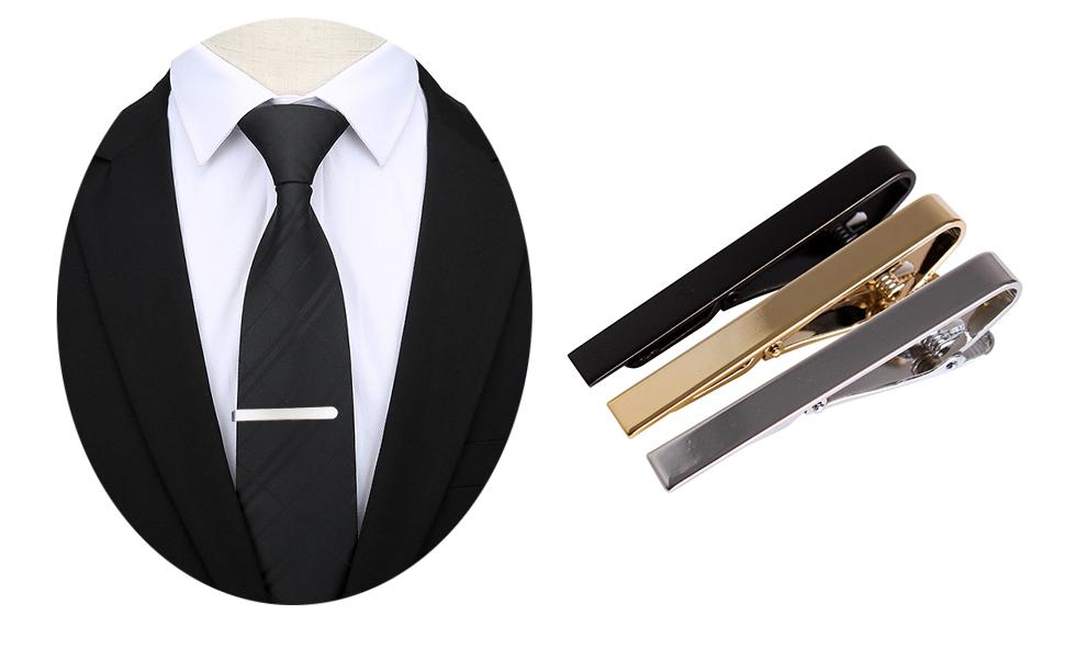 Andux Set de 3 Pasador de Corbatas 5.5cm Pisacorbatas Skinny LDJ ...