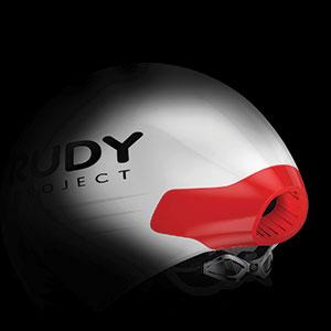 white helmet on black background highlighting ventilation area