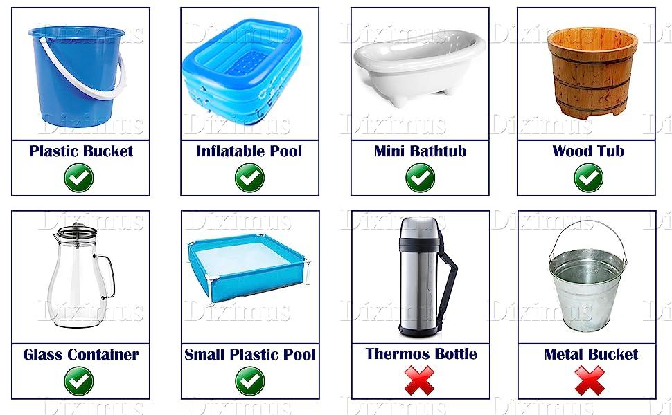 bucket water heater immersion water heater