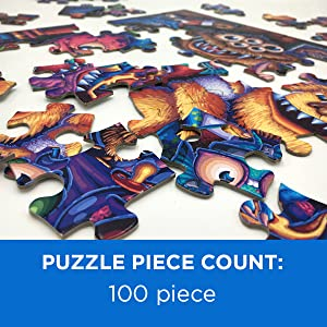 100 piece children kids adults puzzle family fun colorful