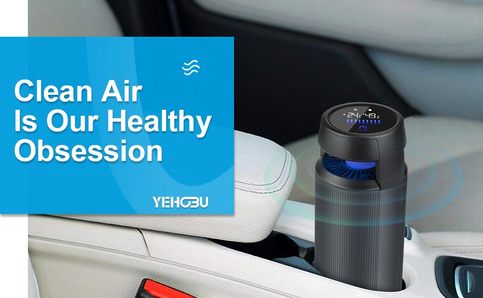 YEHOBU Mini Air Purifier Portable
