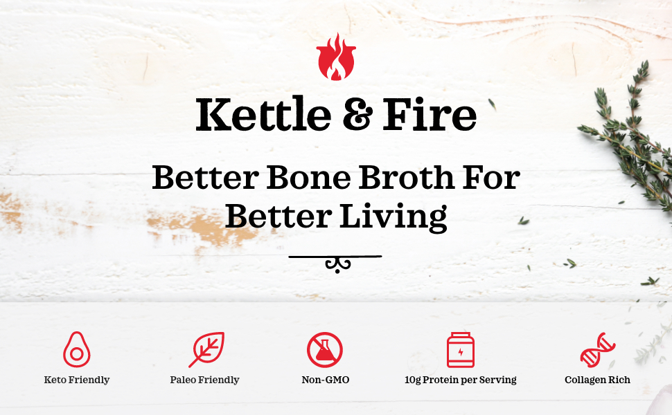 kettle and fire bone broth organic soup