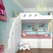 Kids bedroom with lamp