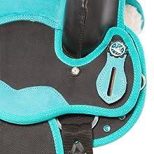 silver concho, conchos, show saddle, crystal saddle, synthetic saddle, youth saddle, horse saddle