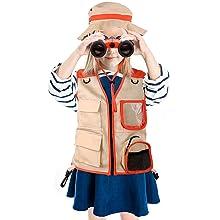 kids explorer kit outdoor adventure kit binoculars safari hat custome vest pretend play