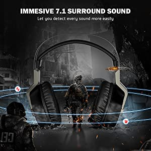 Mpow EG3 Gaming Headset 7.1 Surround USB Connected For PC & PS4 Pakistan brandtech.pk