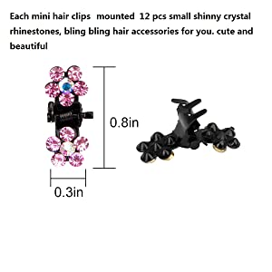 hair clips size