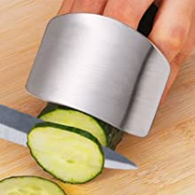 safety finger guard safe food chopping stainless steel finger guard food prep safety