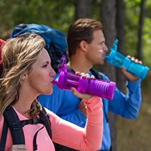 portable water filter for travel, best filtered water bottle for travel, portable water purifiers