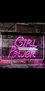 ADVPRO Girl Power sexy woman power rebel neon sign home bedroom decoration space free spirit light