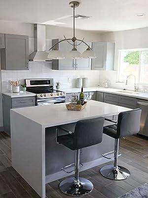 kira home athena island light lighting centerpiece alabaster shades sleek brushed nickel kitchen