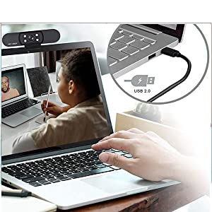 Computer Webcam 1080P PC Web Camera