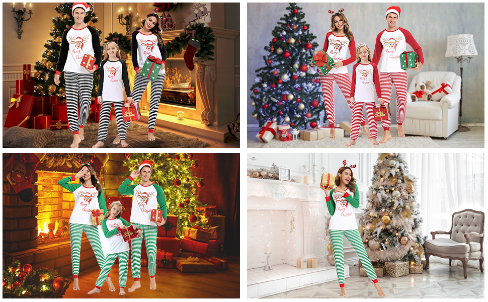 Family Matching Winter Holiday Pajama Collection