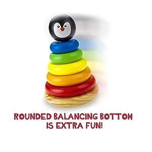 Toyshine Penguin Rainbow Stacking Rings (Multicolour)