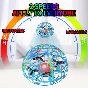 drone 2 speeds