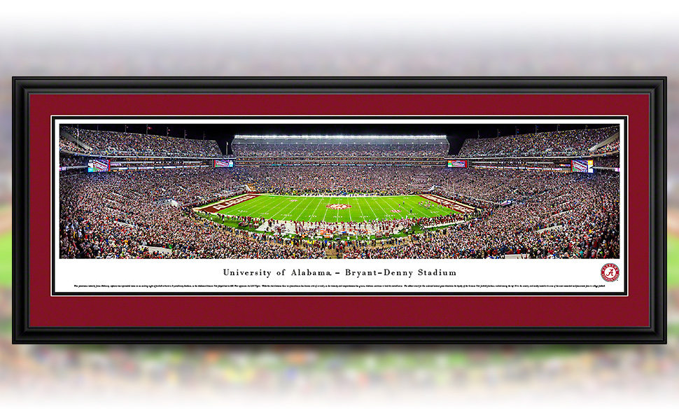 Alabama 2020 College Football National Champions Panoramic Posters and Framed Pictures by Blakeway Panoramas