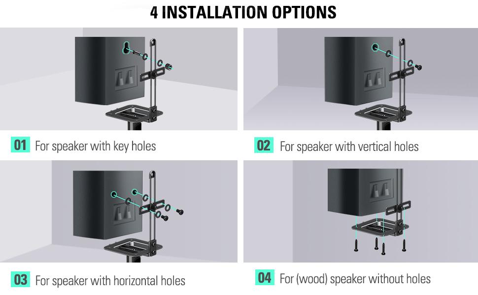 Speaker stand mount bracket