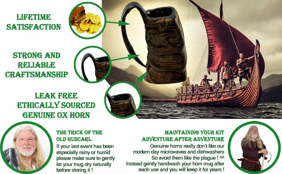 Mythrojan WOW  reenactment drinking horn mug LARP knight medieval SCA renaissance Viking renfair