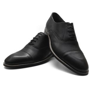 DIXBERFIELD Zapatos Anchos Oxford de Cuero Color Negro con Cordones y Puntera Recta para Hombre – DGRAND