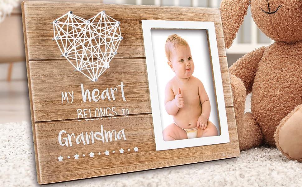 Grandma Gifts Nana Frame Present Grandmother Grammy Granddaughter Grandson Photo pregnancy
