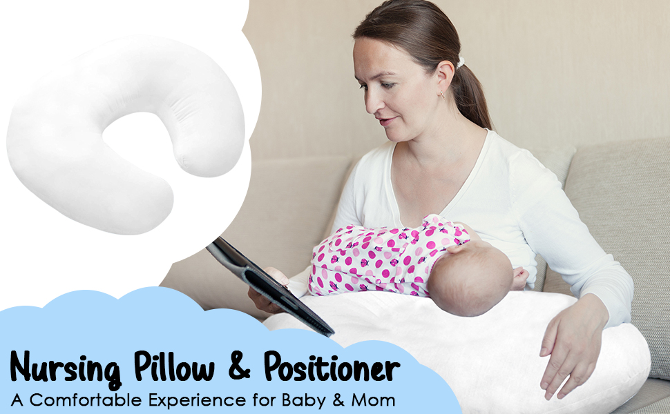 Nursing Pillow and Positioner Newborn Breastfeeding Pillow - 2 Pack Nursing Pillow And Positioner Newborn Breastfeeding Pillow, Infant Support Cushion And Portable For Travel - Made With Breathable Cotton Blend- Machine Washable