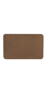 Area Rug House Home And More Skid-Resistant Low Pile Height Toffee Brown