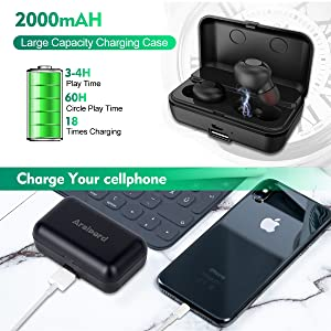 Capacidad de batería de 2000 mAh