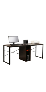 sogesfurniture Computer Desk 47.2 inches Sturdy Office Desk Meeting Desk Training Desk Writing Desk Workstation Desk Gaming Desk,Black BHCA-WK-JJ120-BK