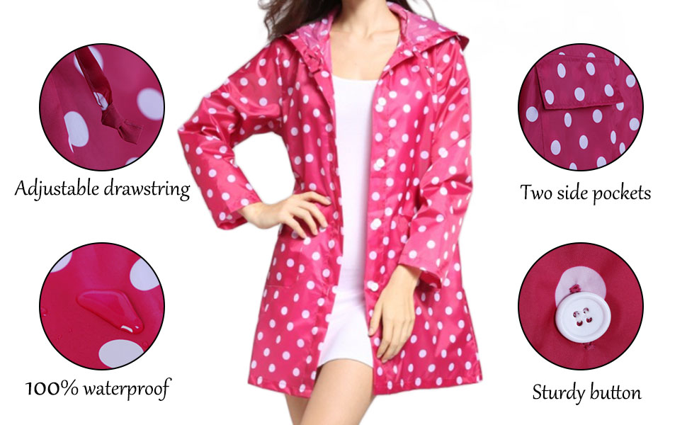 Lightweight Rain Jacket with Hood
