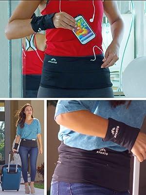 cartera de muñeca cinturón de viaje de dinero de viaje cinturón de gimnasia pasaporte para mujer
