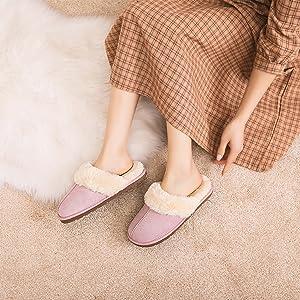 women slippers pink